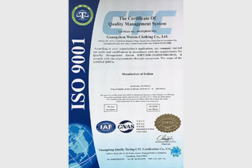The Certification Certificate Of Quality Manaement System