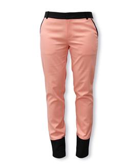 优雅休闲粉色长裤2393