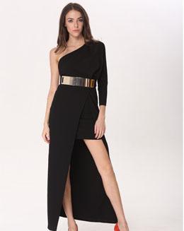针织抹胸连衣裙