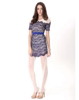 梭织蕾丝连衣裙