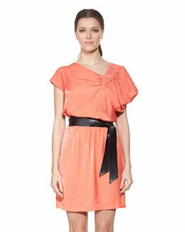 舒适不对称设计连身裙2411
