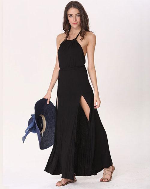 纯色吊带连衣裙