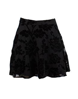 时尚简约烧花半身裙003K