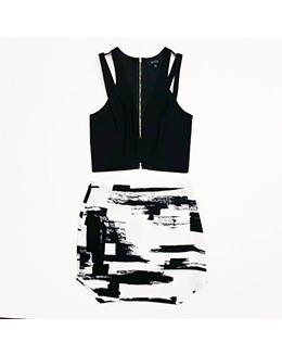 简约时尚短款上衣015