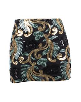 民族绣片包臂半身短裙2210-1