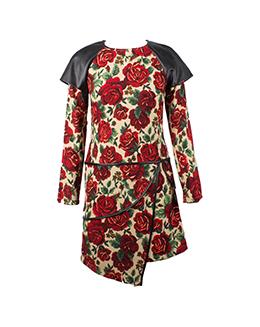 时尚复古印花连衣裙2233