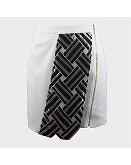 时尚特色格子包臂短裙2266