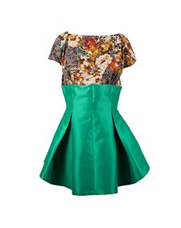 时尚复古印花连衣裙2302