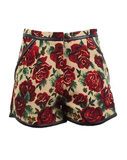 时尚复古印花短裤2310  2906