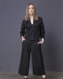 黑色七分袖小夹克