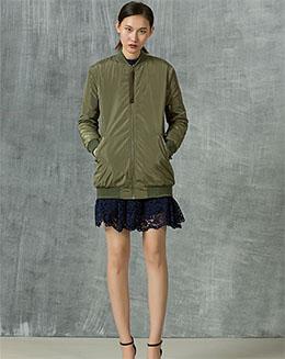 秋季新款绿色外套