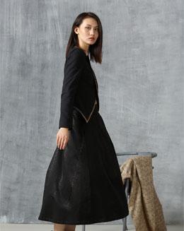 秋冬新款半身裙黑色a字裙