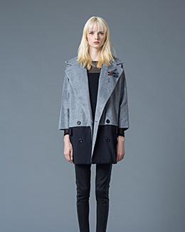秋冬新款时髦大牌中长款双排扣翻领大外套