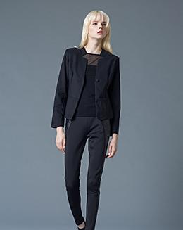 秋冬新款高雅OL通勤气质休闲V领显瘦短款西装外套