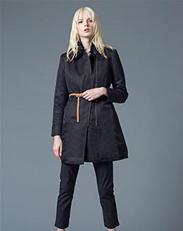 秋冬新款女装外套毛绒围脖气质修身显瘦保暖衣风衣