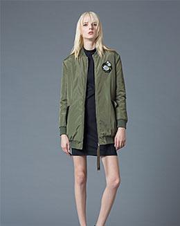 秋冬季欧美女装新款修身大衣中长款外套