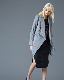 秋冬新款时髦毛呢外套女长袖修身个性帅气女西装外套