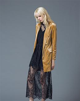 冬季过膝新款潮韩版麂皮绒鹿女中长款薄外套