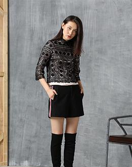 春季新款时尚个性蕾丝衫休闲T恤