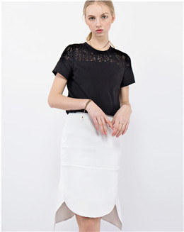 白色性感包臀半身裙