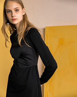 2017新款秋季两件套不规则连衣裙