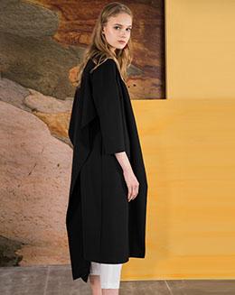 秋季新款中长款裙子外套双穿式