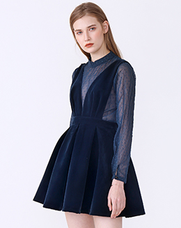 新款背心百褶蓬蓬连衣裙