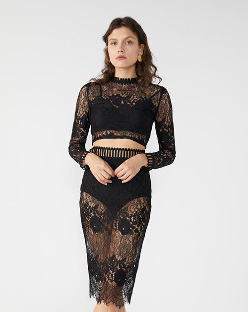 广州服装厂2019春夏新款蕾丝套装裙