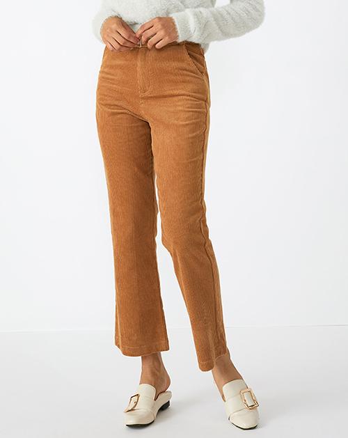 广州服装厂灯芯绒高腰阔腿裤