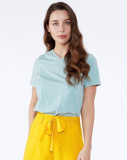 服装厂衣服厂V领纯色纯棉T恤上衣