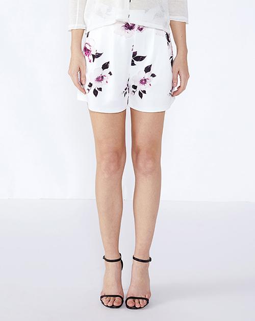 女装生产厂家高腰印花短裤