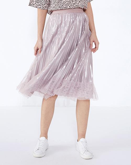 服装贴牌厂家蕾丝拼接网纱半身裙