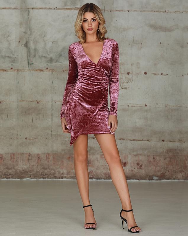 外贸欧美女装连衣裙加工厂丝绒修身连衣裙