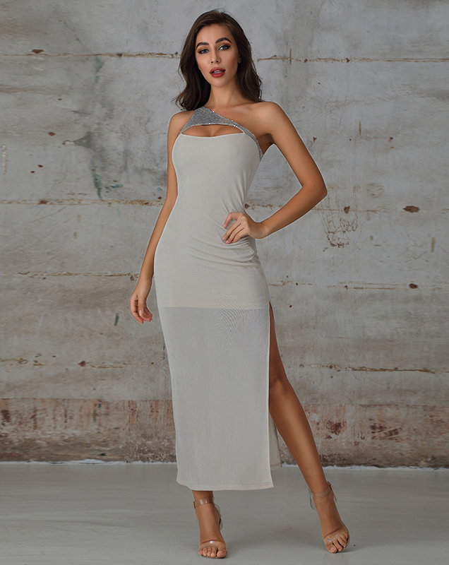 广州女装加工厂外贸女装长款连衣裙礼服